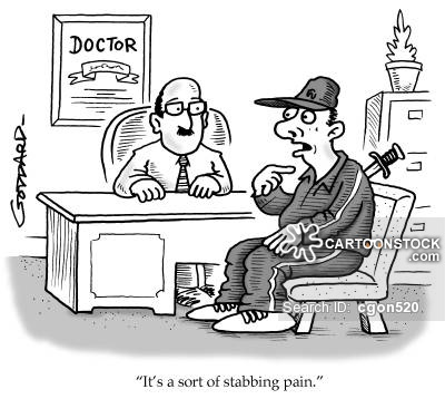 'It's a sort of stabbing pain.'